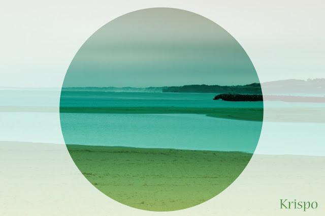 paisaje de la costa de hendaya desde la playa de hondarribia