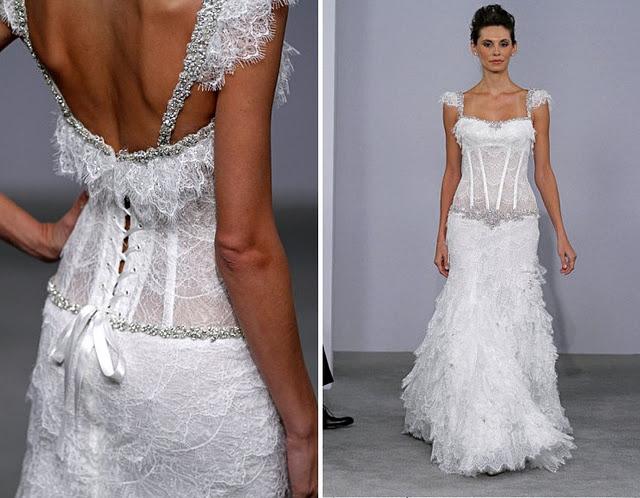Inspiring Corset Wedding Gown Pnina Tornai   WEDDING BRIDAL GOWNS