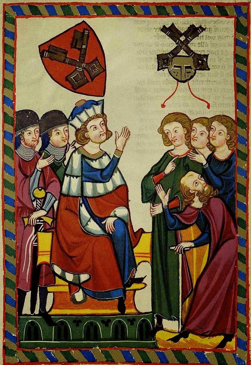 Suavização das relações sociais. Der Burggraf von Regensburg, Codex Manesse