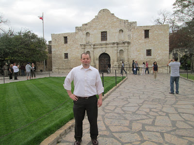 Dr. Gardner at the Alamo.