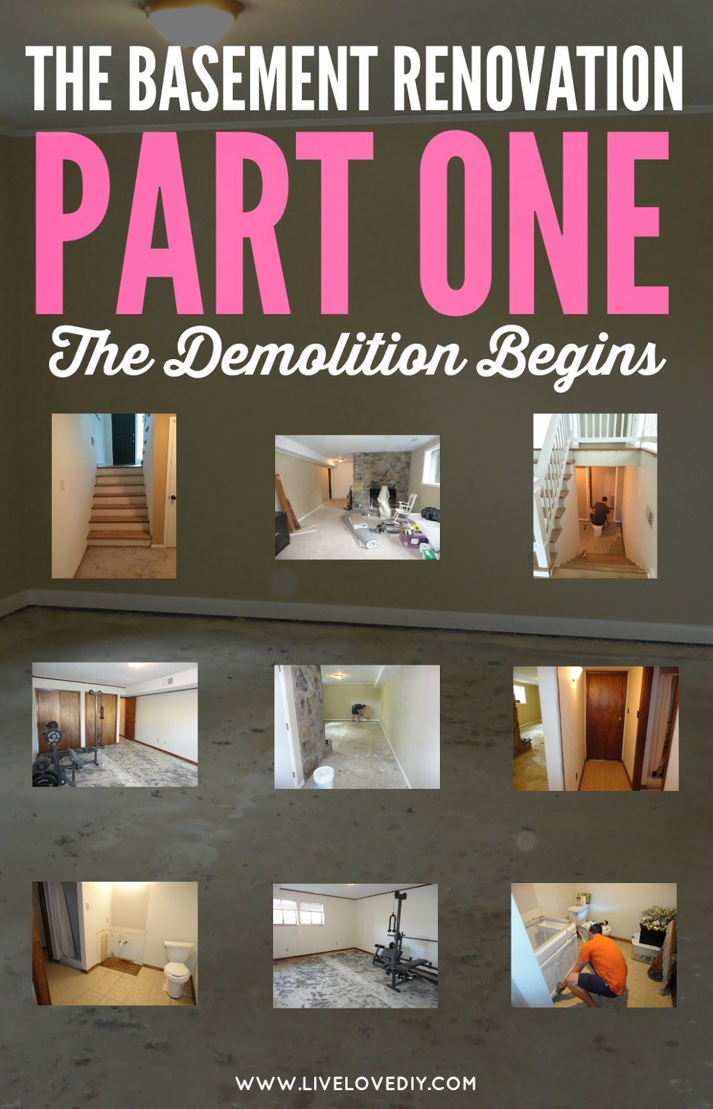 The Basement Renovation, Part One: The Demolition Begins!