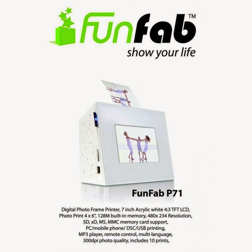 Abit FunFab Photo Frame - P71 (Digital Frame + Printer) - Naiz Komputer