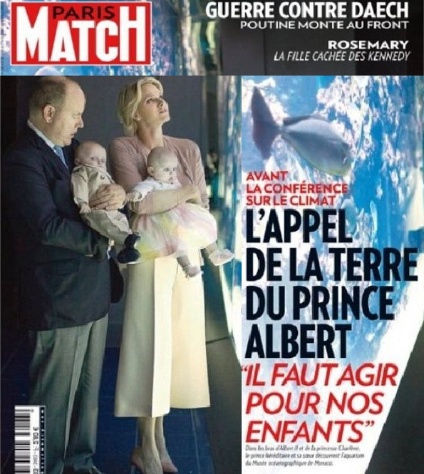 Monaco Royal Family On The Cover Of Paris Match Magazine