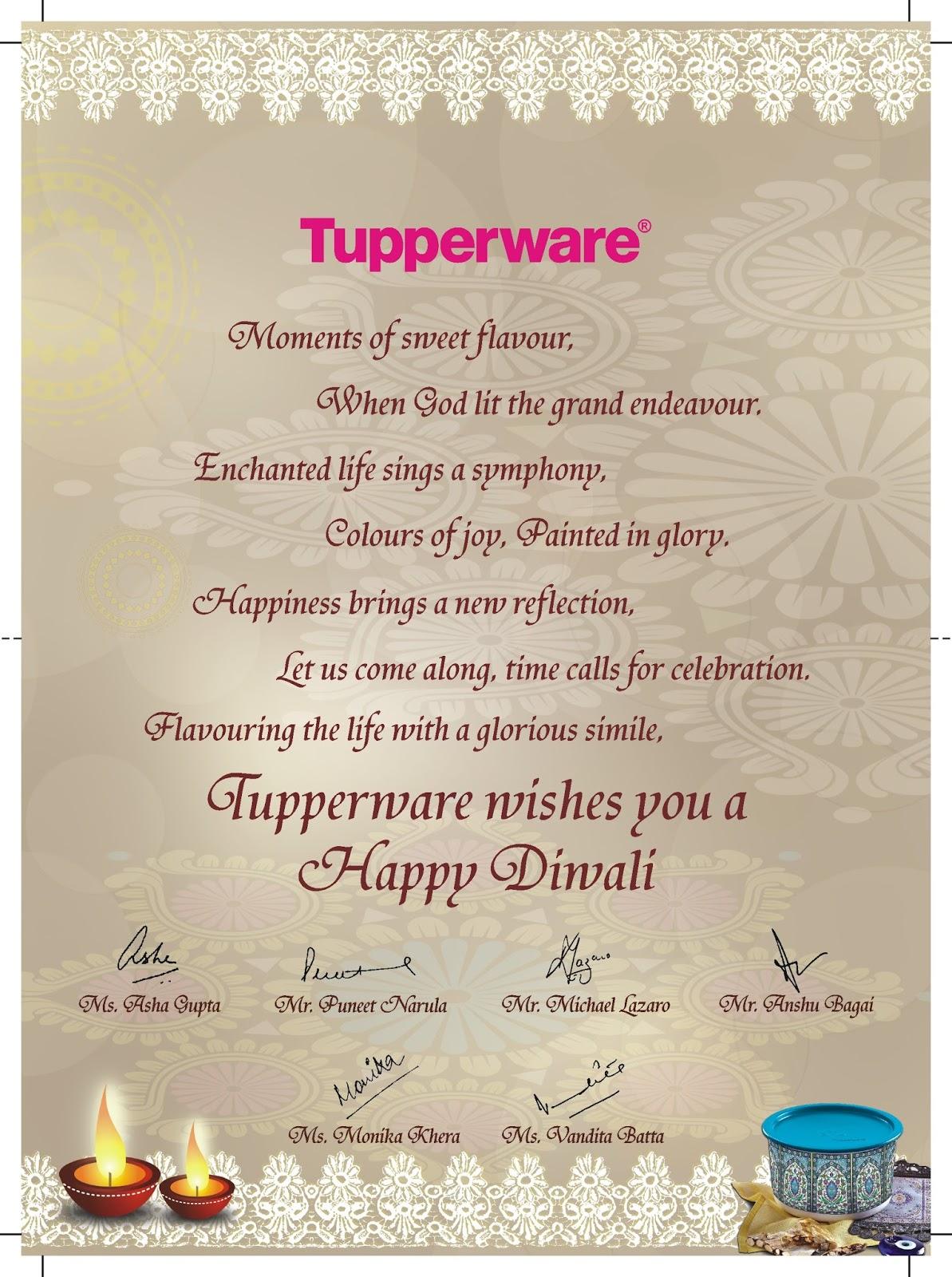 Creative work tupperware diwali invitation card tupperware diwali invitation card stopboris Gallery
