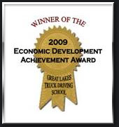 Great Lakes Truck Driving School Winner of Economic Development and Achievement Award