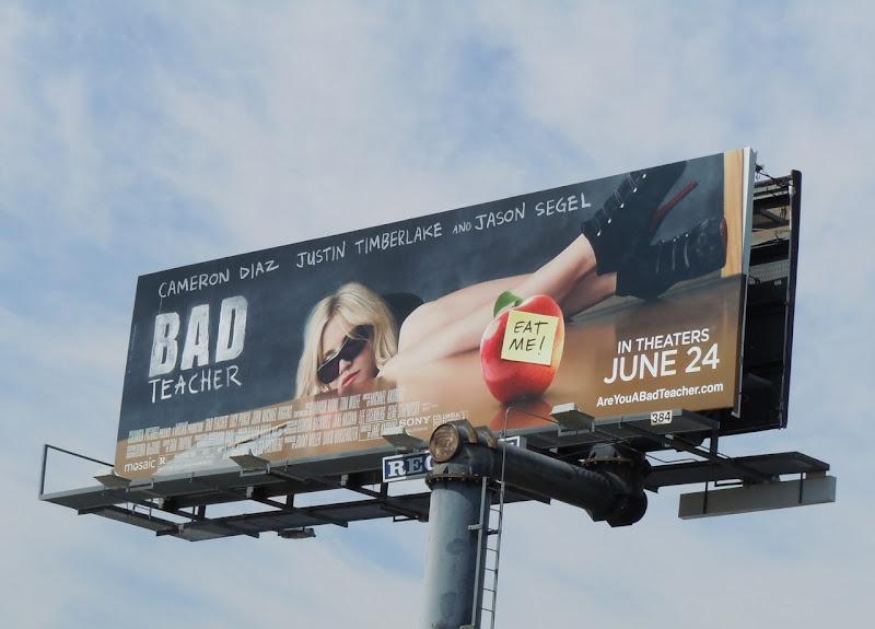 Bad Teacher movie billboard