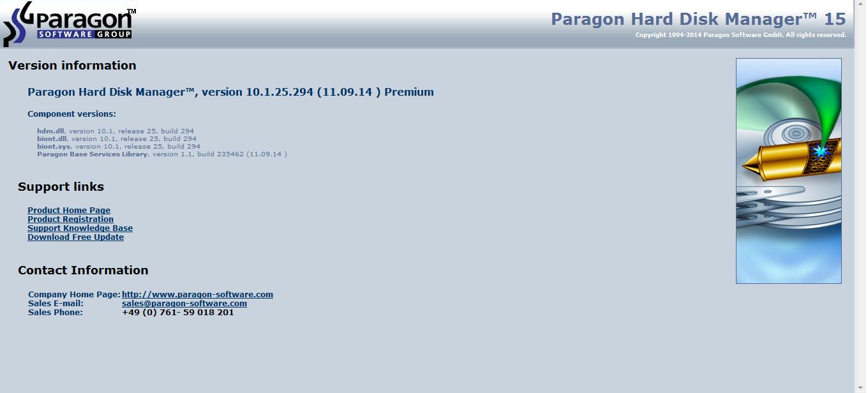 Paragon HardDisk Manager 15 Preium 10.1.25.431