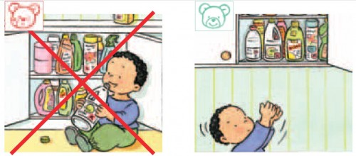 Resultado de imagem para produtos de limpeza fora do alcance de crianças