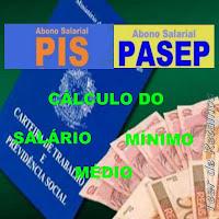 Cálculo do salário médio para recebimento do abono do PIS/PASEP