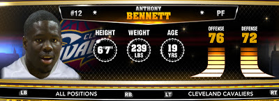 NBA 2K13 Cavaliers Anthony Bennett - Round 1 Pick 1st Overall