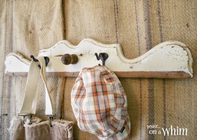 Repurposed architectural wood into wall hooks from Denise on a Whim