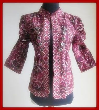 Batik Model Blazer Wanita