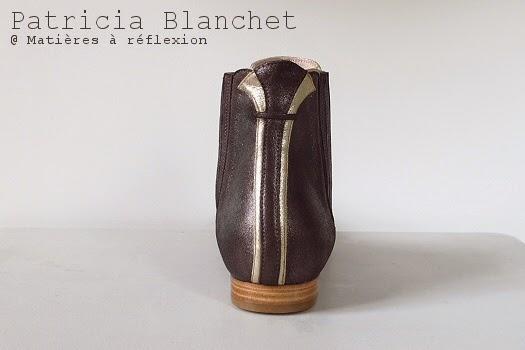 Bottines métallisées Patricia Blanchet