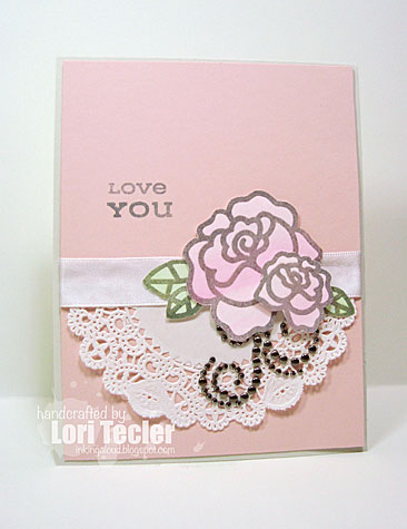 Love You card-designed by Lori Tecler/Inking Aloud-stamps from Paper Smooches