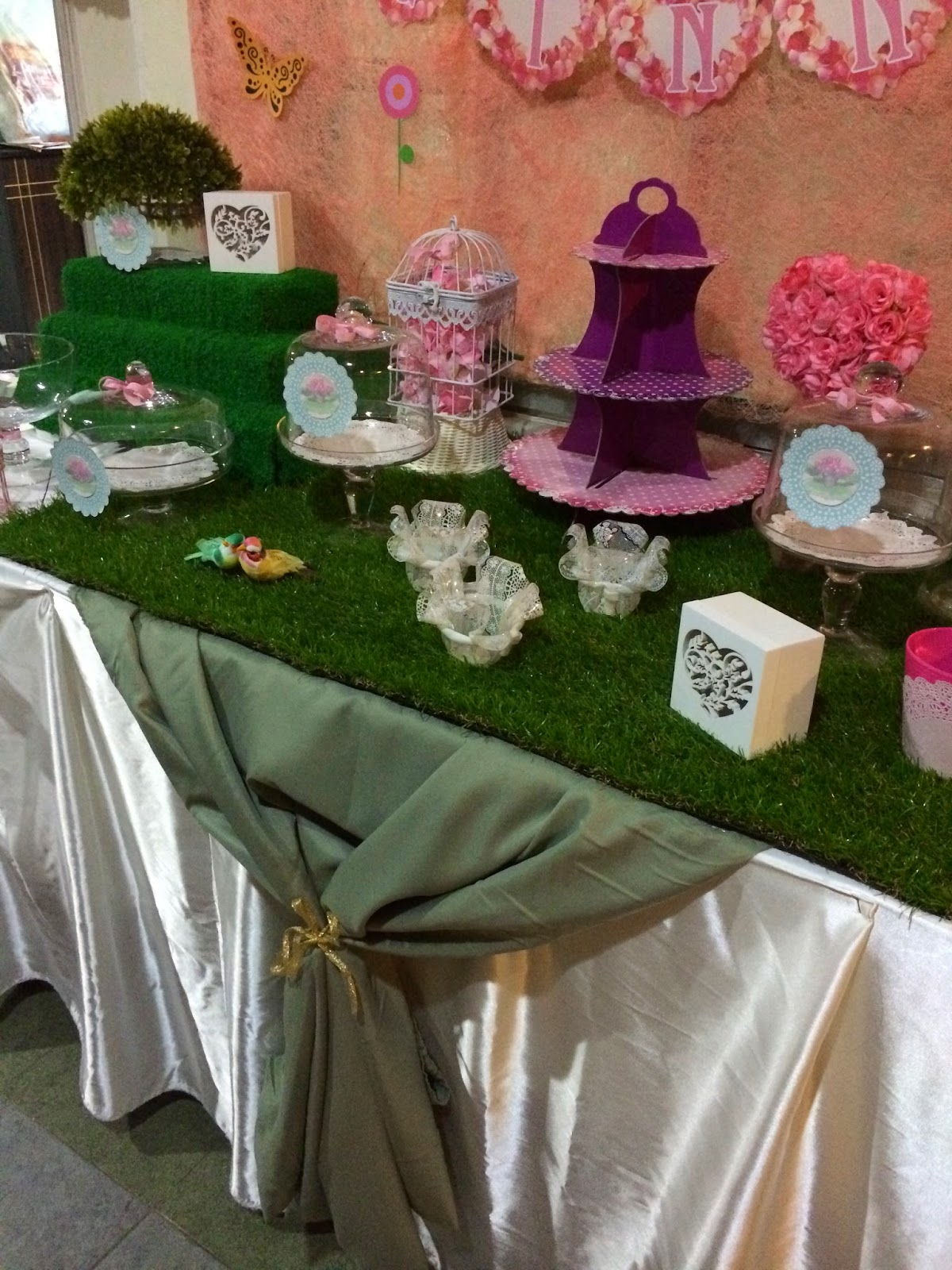 Engagement Day Garden Theme (Candy Buffet table setting only + ...