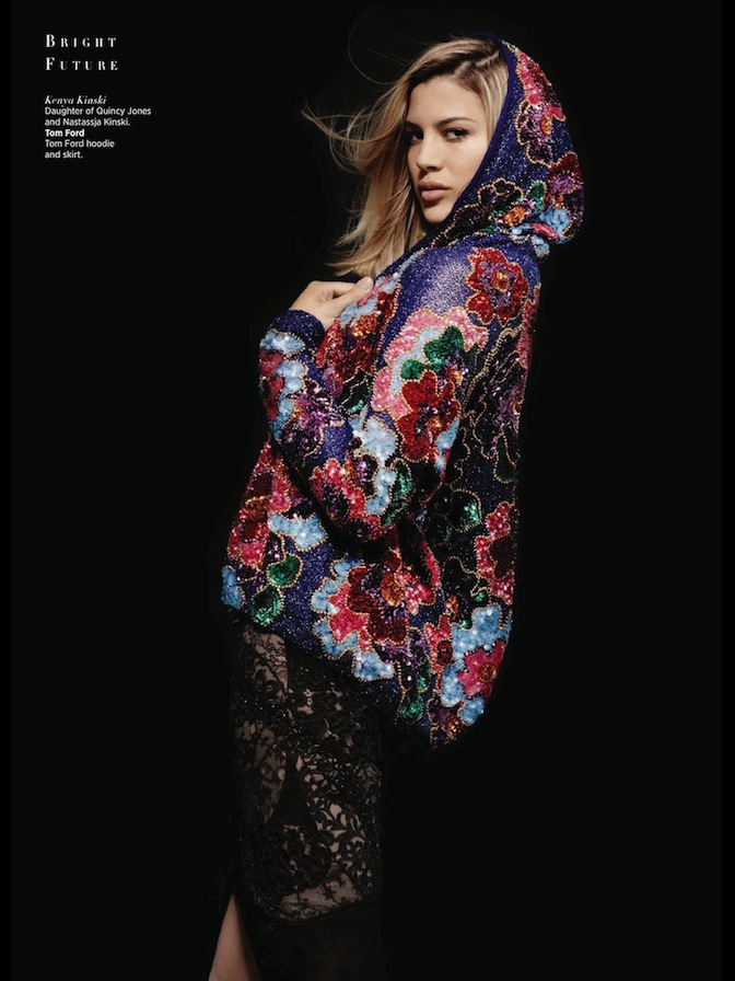 kenya kinski in tom ford for harper's bazaar australia sept 2013 shot by karl lagerfeld