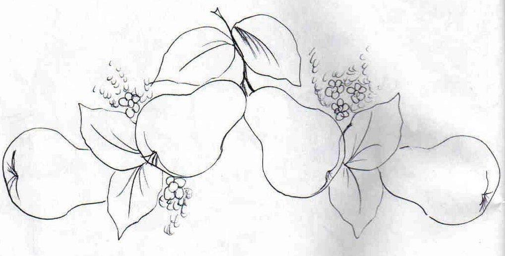 Riscos Para Pintura Em Tecido De Frutas