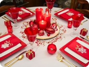 Christmas Table Decoration Red, Part 2