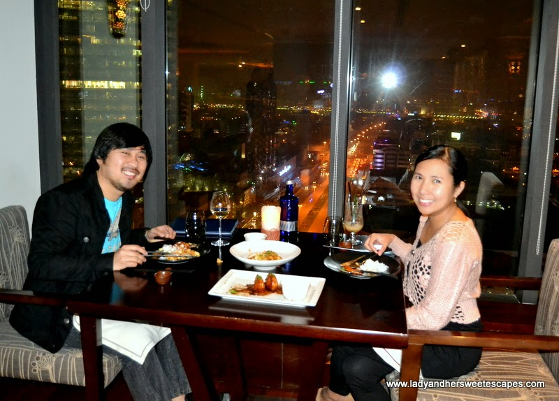 Ed and Lady at Kris restaurant in Park Regis Dubai