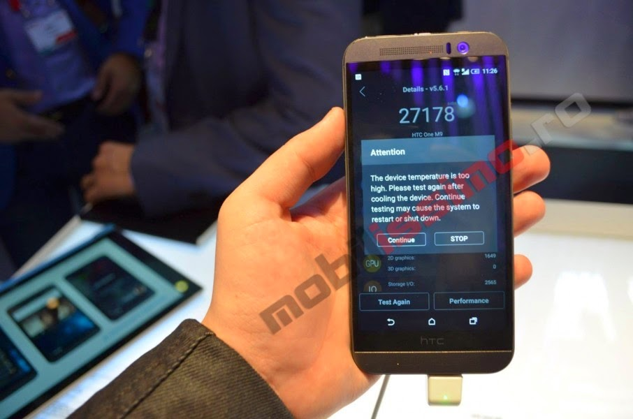 HTC One M9 yang didukung Snapdragon 810 64-bit overheating di AnTuTu