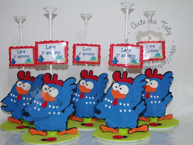 centro-de-mesa-galinha-pintadinha