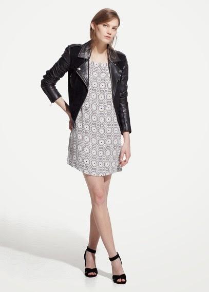 Mango 2015 Elbise Modelleri  desenli elbise, beyaz elbise modeli, kısa elbise ofis ve günlük giyime uygun