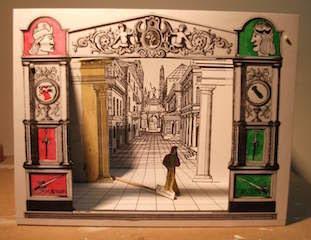 A hand-made model of Palladio's Teatro Olimpico