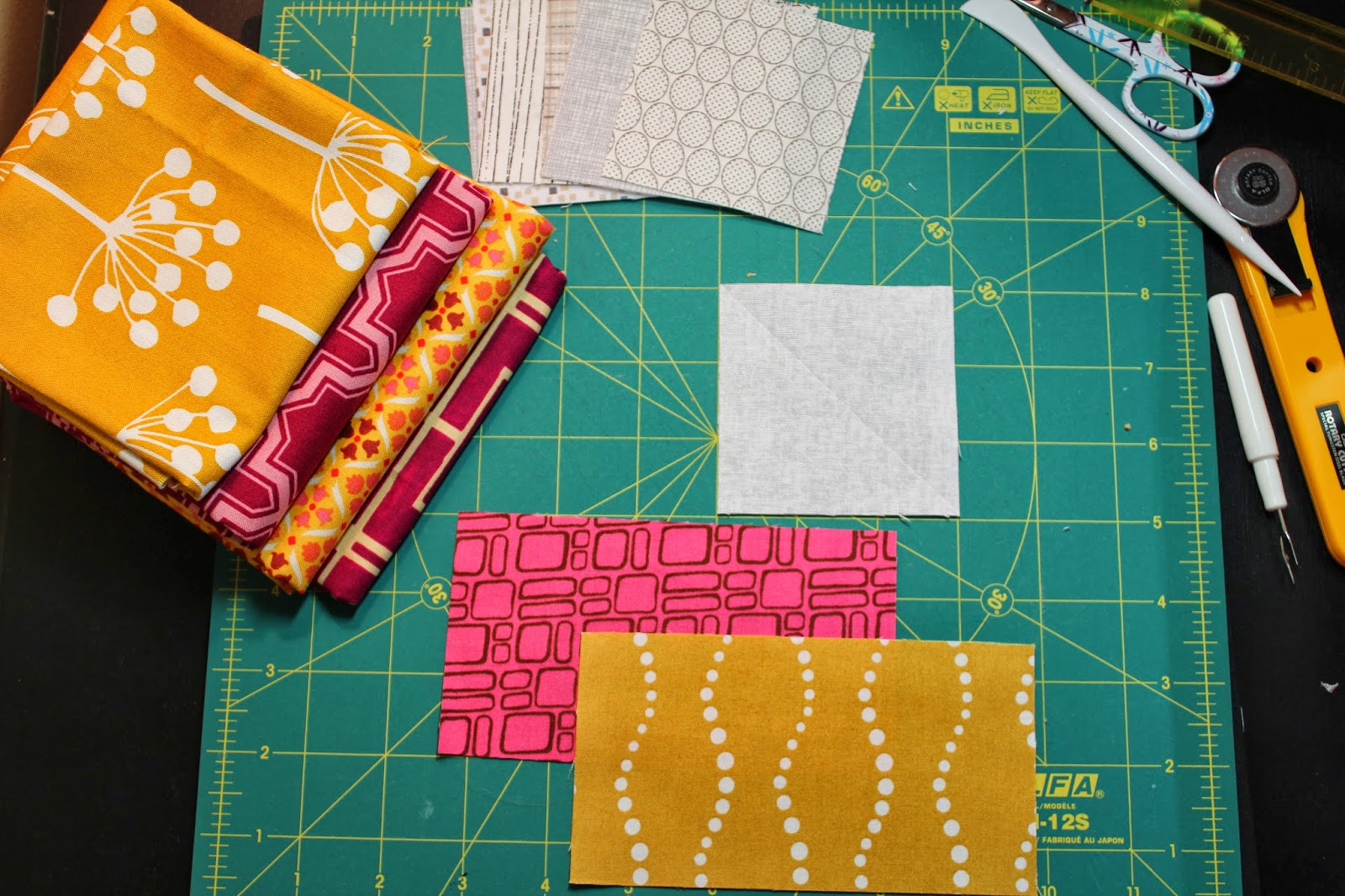 Between Quilts Quick Flying Geese Tutorial