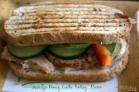 Asiago Honey Garlic Turkey Panini/ This & That #panini #slowcooker #turkey #lunch #gourmetwarehouse #honeygarlicinjectable