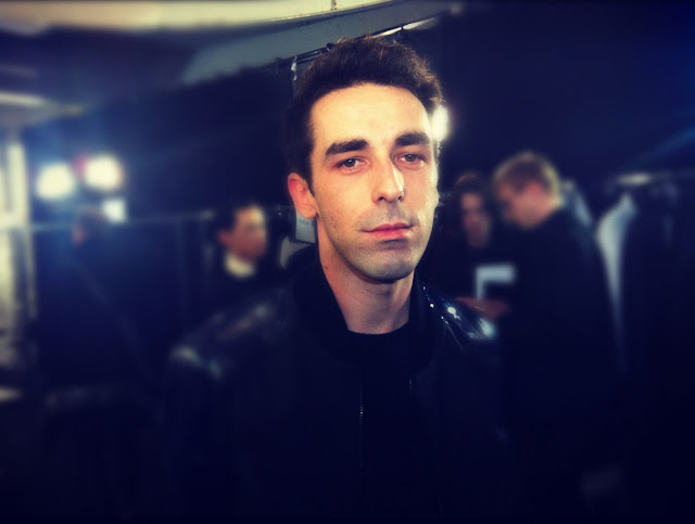 Romain Kremer MUGLER FALL WINTER 2012 2013 BACKSTAGE PARIS MENS FASHION WEEK