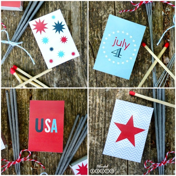 Patriotic Matchbox Printable from Blissful Roots