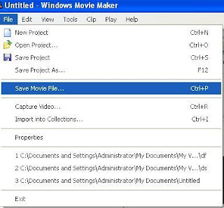 save movie file in movie maker