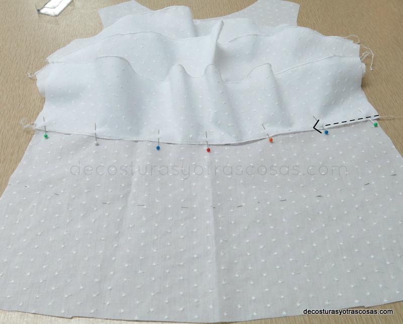 blusita de niña de plumeti de algodón