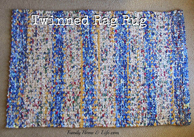 diy twining; how to weave a rag rug