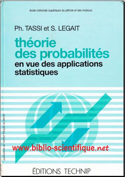 Livre : Théorie des probabilités en vue des applications statistiques