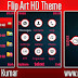 Flip Art Live HD Theme For Nokia x2-00,x2-02,x2-05,x3-00,c2-01,2700,206,301,6303 240*320 Devices.