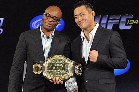 ufc mma middleweight fight event anderson silva vs yushin okami picture image