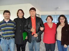 Chefe do Núcleo recebe prof Juan do Paraguai...