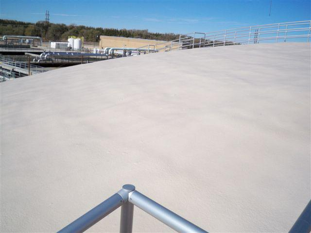 We Also Recently Finished A Digester Lid Dome In Lubbock, Texas With SPF  And Elastomeric Roof Coating.