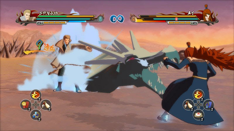 Naruto Storm Revolution Edo Kages Mizukage Water Dragon vs Mei