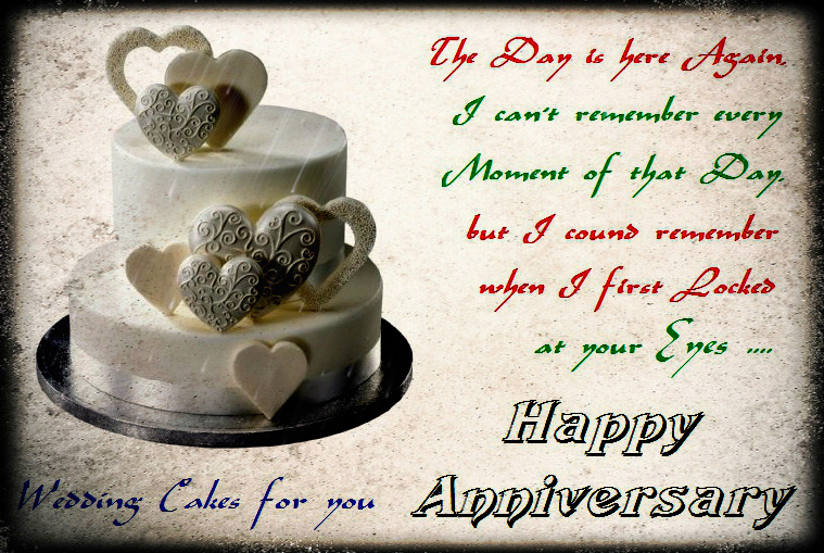 Anniversary Cake Images With Wishes : 55+ Most Romentic Wedding Anniversary Wishes