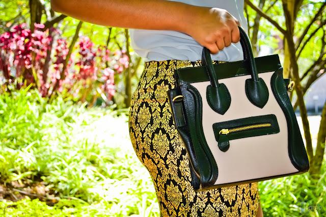Bolsa em couro liso Celine Luggage Nano Inspired: Cód. AB1001