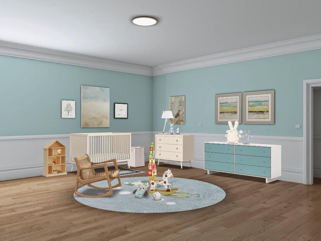 Dormitorio para beb s celeste design 4 life - Dormitorios para bebe ...