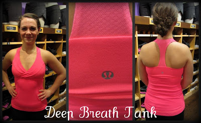 lululemon deep breath tank in flash
