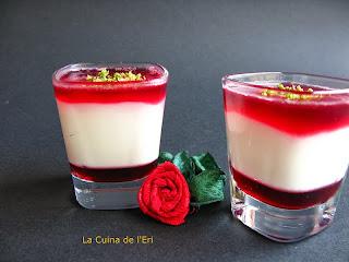 """Mini mousse de llima amb gelatina de """"Karkadé"""""""