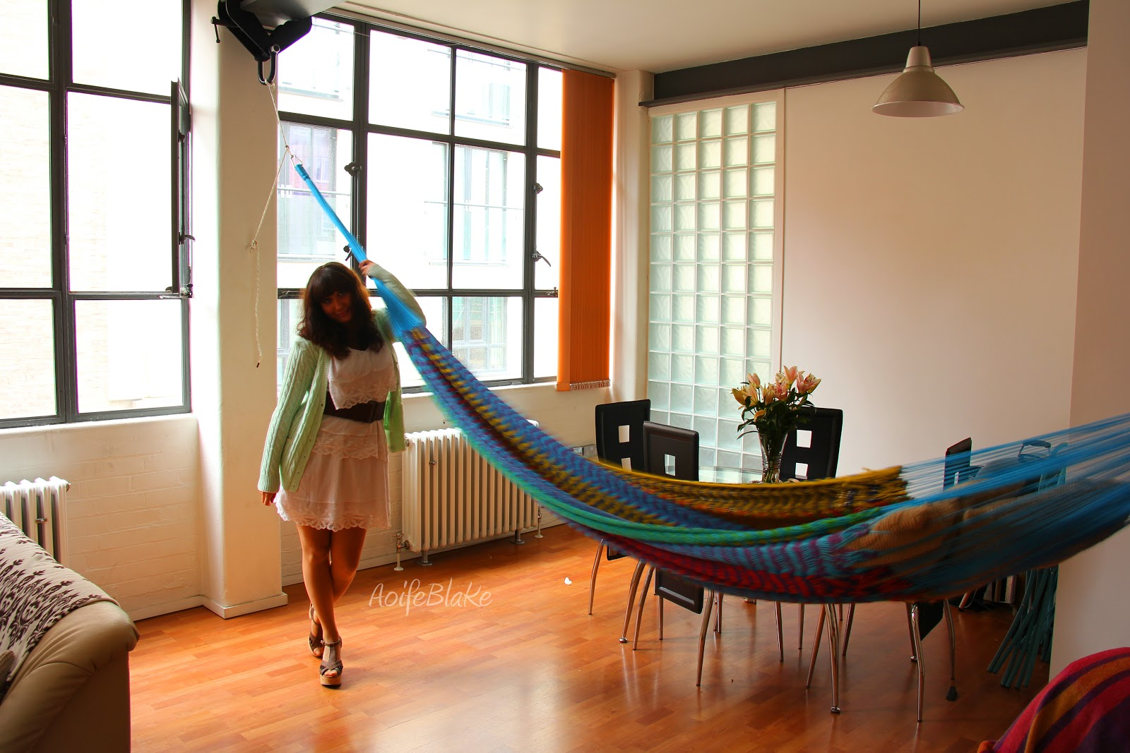 Pin by ellen l on home decor for poor people pinterest for Living room hammock