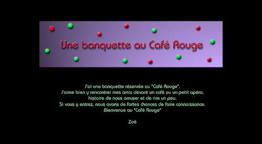 """Une banquette au """"Café Rouge"""""""