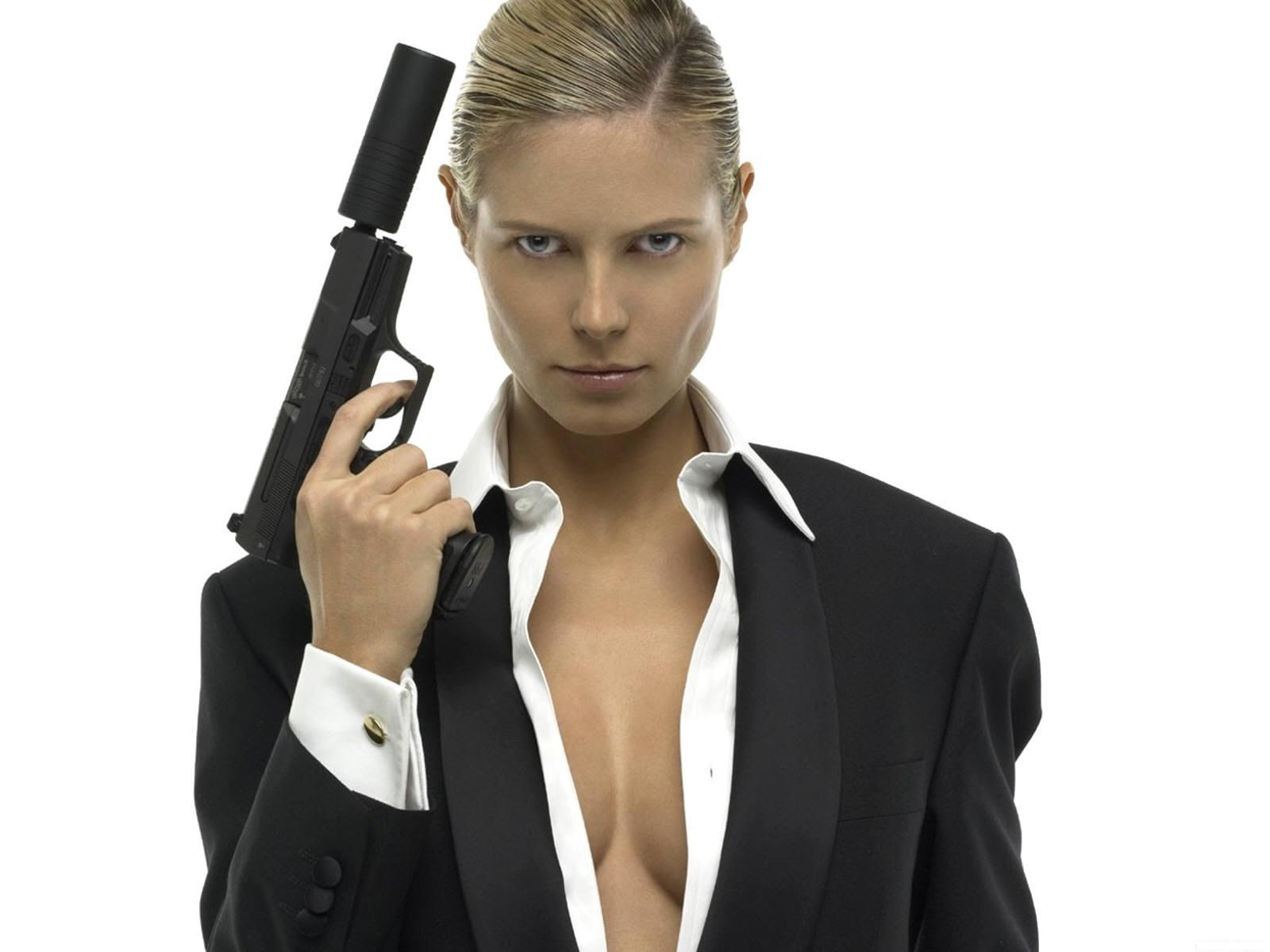 sexy woman with a gun
