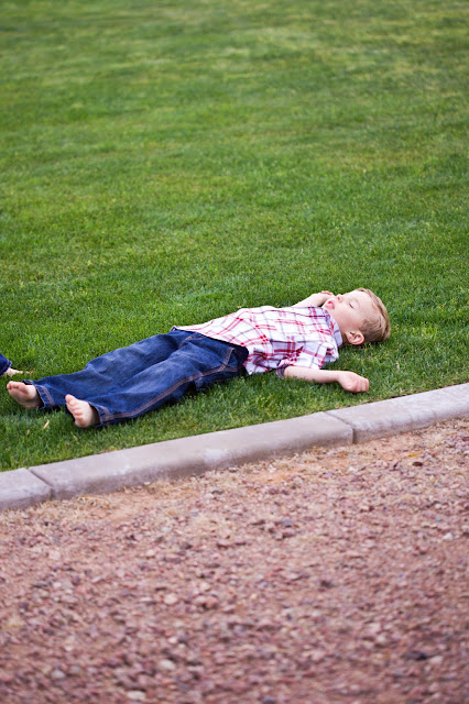 Kid playing dead