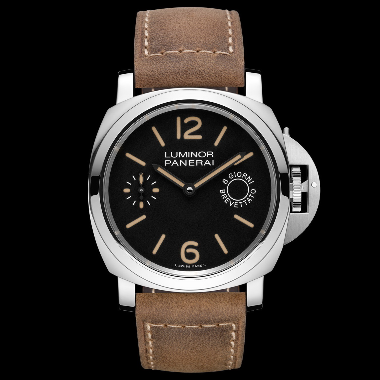 oceanictime panerai luminor marina 8 days steel pam00590. Black Bedroom Furniture Sets. Home Design Ideas